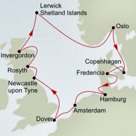 Kiel Canal and Great Britain Explorer  Itinerary