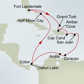 Southern Caribbean and Panama Canal Itinerary