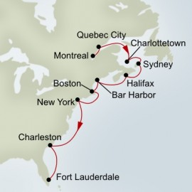 The Atlantic Coast Holland America Line Cruise