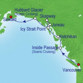 Northbound Alaska and Hubbard Royal Caribbean Cruise