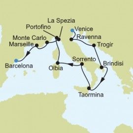 Mediterranean from Venice to Barcelona Itinerary