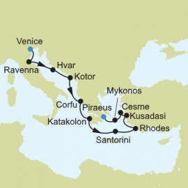 Mediterranean from Venice to Piraeus Itinerary