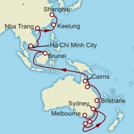 Melbourne to Shanghai World Sector Cruise