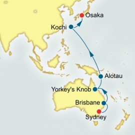 Sydney to Osaka World Sector Cruise