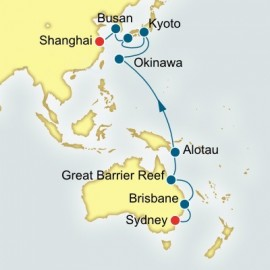 Sydney to Shanghai World Sector Cruise