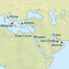 Suez Canal Cruise Itinerary