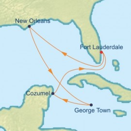 Mardi Gras and Caribbean Itinerary
