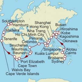 Sydney to Hamburg World Sector Cruise