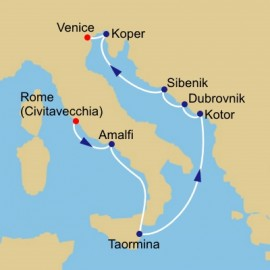 Amalfi and Dalmatian Coasts Azamara Club Cruises Cruise