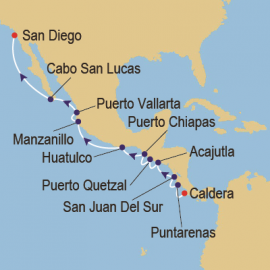 Costa Rica to Baja Azamara Club Cruises Cruise