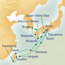 Ryukyu Islands and Kyushu and Taiwan Itinerary