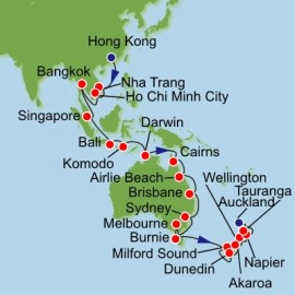 Southeast Asia Australia and New Zealand Itinerary