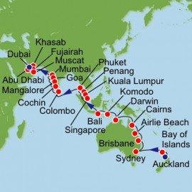 Australia New Zealand Southeast Asia and India Itinerary