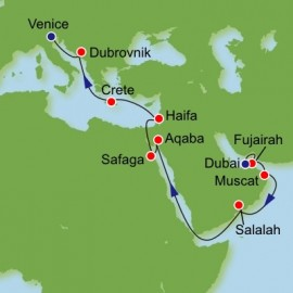 Eastern Mediterranean and The Gulf from Dubai Itinerary