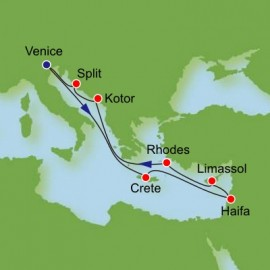 Eastern Mediterranean and The Holy Land Itinerary