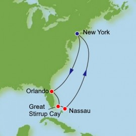 Bahamas and Florida Round Trip New York Itinerary