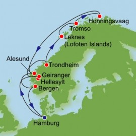 Norway and North Cape Itinerary