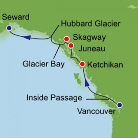 Glacier Bay from Vancouver Itinerary