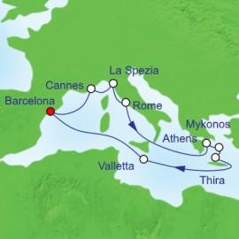 Mediterranean Greek Itinerary