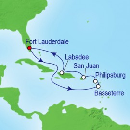 Eastern Caribbean Holiday Itinerary