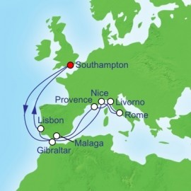 Mediterranean Highlights Cruise Itinerary