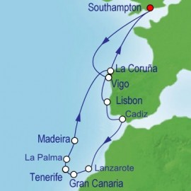 Sunshine in the Canaries Cruise Itinerary