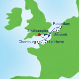 French and Dutch Adventure Cruise Itinerary