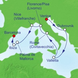 Italy and Malta and Spain  Itinerary