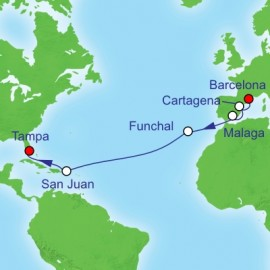 Spain To South Florida Transatlant Itinerary