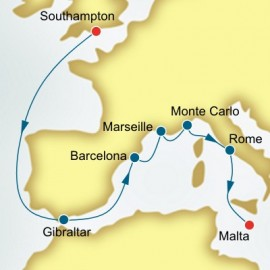 Spain France and Monaco Itinerary