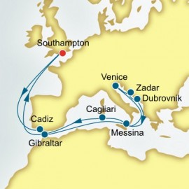 Spain and Italy and Croatia P&O Cruises UK Cruise