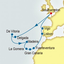 Azores and Canary Islands and Portugal  Itinerary