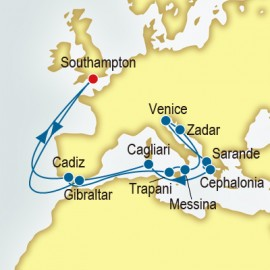 Spain and Italy and Greece P&O Cruises UK Cruise