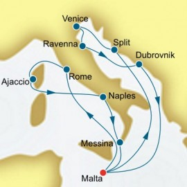 Italy Malta and Croatia Itinerary