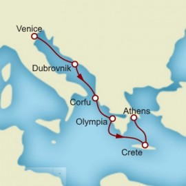 Venice Dubrovnik and Greek Isles Itinerary