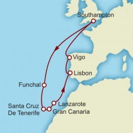 Iberia and Canaries and Madeira Itinerary