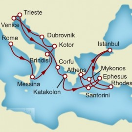 Rome and Greek Isles and Istanbul Itinerary