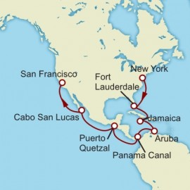 New York to San Francisco World Sector Itinerary