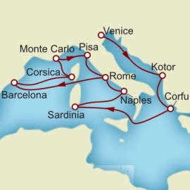 Venice Rome and Barcelona Cunard Cruise