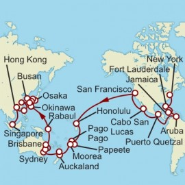 New York to Singapore World Sector Itinerary