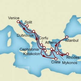 Greek Isles and Croatia and Italy Itinerary