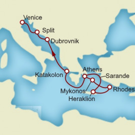 Greek Isles Croatia and Italy Itinerary