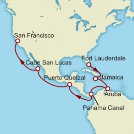 Fort Lauderdale to San Francisco World Sector Itinerary