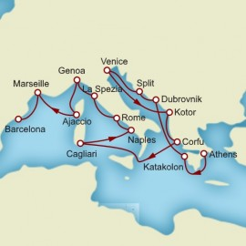 Venice and Greek Isles and Croatia and Barcelona Itinerary