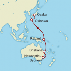 Sydney to Kyoto World Sector Cruise
