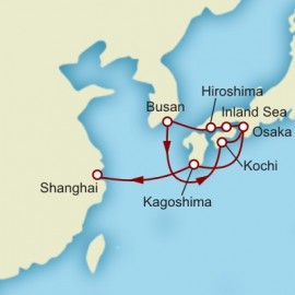 Kyoto to Shanghai World Sector Itinerary