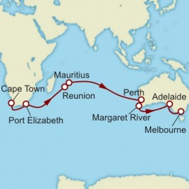 Cape Town to Melbourne World Sector Itinerary