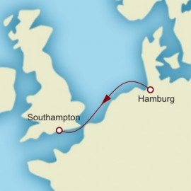 Hamburg to Southampton World Sector Itinerary