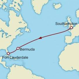Southampton to Fort Lauderdale World Sector Itinerary