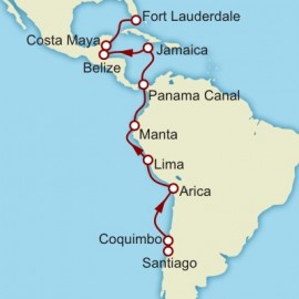 Valparaiso to Fort Lauderdale Itinerary